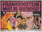 Frankenstein Must Be Destroyed - British Movie Poster (xs thumbnail)