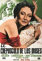 Sunset Blvd. - Spanish Movie Poster (xs thumbnail)