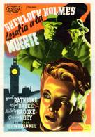 Sherlock Holmes Faces Death - Spanish Movie Poster (xs thumbnail)