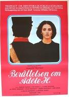 L'histoire d'Adèle H. - Swedish Movie Poster (xs thumbnail)