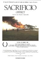 Offret - Spanish Movie Poster (xs thumbnail)