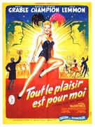 Three for the Show - French Movie Poster (xs thumbnail)