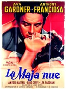 The Naked Maja - French Movie Poster (xs thumbnail)