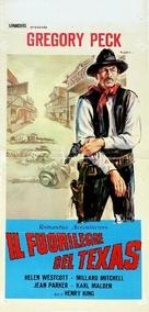 The Gunfighter - Italian Movie Poster (xs thumbnail)