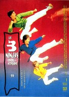 3 Ninjas Kick Back - French Movie Poster (xs thumbnail)