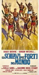 Schiavi più forti del mondo, Gli - Italian Movie Poster (xs thumbnail)
