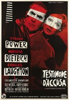 Witness for the Prosecution - Italian Movie Poster (xs thumbnail)