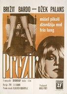 Le mépris - Yugoslav Movie Poster (xs thumbnail)