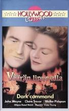 Dark Command - Finnish VHS movie cover (xs thumbnail)