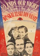 So Ends Our Night - Danish Movie Poster (xs thumbnail)