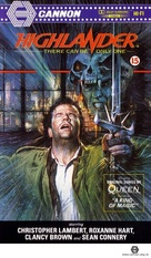 Highlander - British VHS movie cover (xs thumbnail)