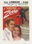 The Mark of Zorro - Belgian Movie Poster (xs thumbnail)