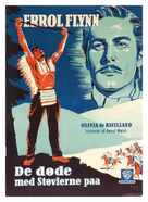 They Died with Their Boots On - Danish Movie Poster (xs thumbnail)