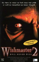 Wishmaster 2: Evil Never Dies - German VHS cover (xs thumbnail)