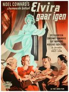 Blithe Spirit - Danish Movie Poster (xs thumbnail)