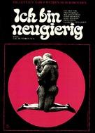 Jag är nyfiken - en film i blått - German Movie Poster (xs thumbnail)