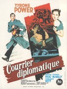 Diplomatic Courier - French Movie Poster (xs thumbnail)