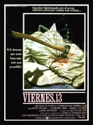 Friday the 13th - Spanish Movie Poster (xs thumbnail)