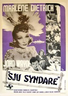 Seven Sinners - Swedish Movie Poster (xs thumbnail)