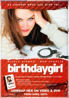 Birthday Girl - Video release movie poster (xs thumbnail)