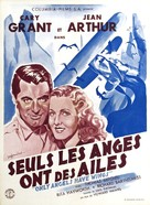Only Angels Have Wings - French Theatrical poster (xs thumbnail)