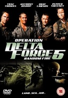 Operation Delta Force 5: Random Fire - British DVD movie cover (xs thumbnail)