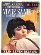 Vivre sa vie: Film en douze tableaux - Belgian Movie Poster (xs thumbnail)