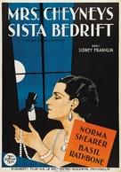 The Last of Mrs. Cheyney - Swedish Movie Poster (xs thumbnail)