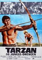 Tarzan and the Jungle Boy - Danish Movie Poster (xs thumbnail)