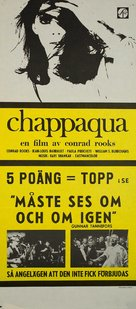Chappaqua - Swedish Movie Poster (xs thumbnail)