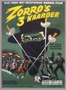 Le tre spade di Zorro - Danish Movie Poster (xs thumbnail)