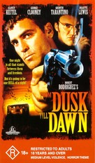 From Dusk Till Dawn - Australian VHS movie cover (xs thumbnail)