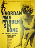 How to Murder Your Wife - Danish Movie Poster (xs thumbnail)