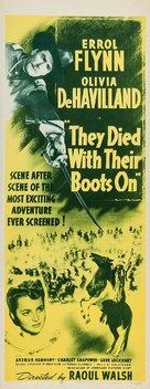 They Died with Their Boots On - Re-release poster (xs thumbnail)