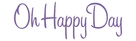 Oh Happy Day - Danish Logo (xs thumbnail)