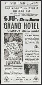 Grand Hotel - Swedish poster (xs thumbnail)