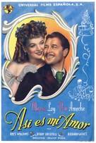 So Goes My Love - Spanish Movie Poster (xs thumbnail)