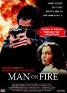 Man on Fire - German DVD cover (xs thumbnail)