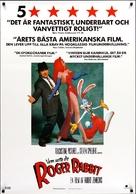 Who Framed Roger Rabbit - Swedish Movie Poster (xs thumbnail)