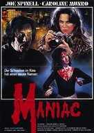 Maniac - German Movie Poster (xs thumbnail)