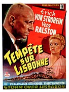 Storm Over Lisbon - Belgian Movie Poster (xs thumbnail)