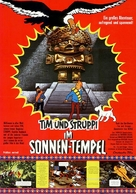 Tintin et le temple du soleil - German Movie Poster (xs thumbnail)