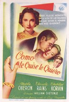 This Love of Ours - Spanish Movie Poster (xs thumbnail)