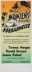 The Curse of the Mummy's Tomb - Swedish Movie Poster (xs thumbnail)