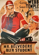 Mr. Belvedere Goes to College - Danish Movie Poster (xs thumbnail)