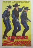 Le tre spade di Zorro - Italian Movie Poster (xs thumbnail)