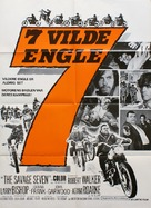 The Savage Seven - Danish Movie Poster (xs thumbnail)