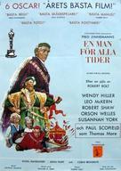 A Man for All Seasons - Swedish Movie Poster (xs thumbnail)