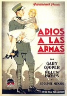 A Farewell to Arms - Spanish Movie Poster (xs thumbnail)