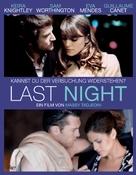 Last Night - Swiss Movie Poster (xs thumbnail)